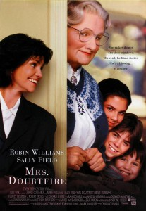 Mrs Doubtfire Movie poster. Image: Google.